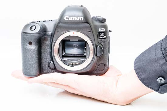 The Canon EOS 5D Mark IV In-hand