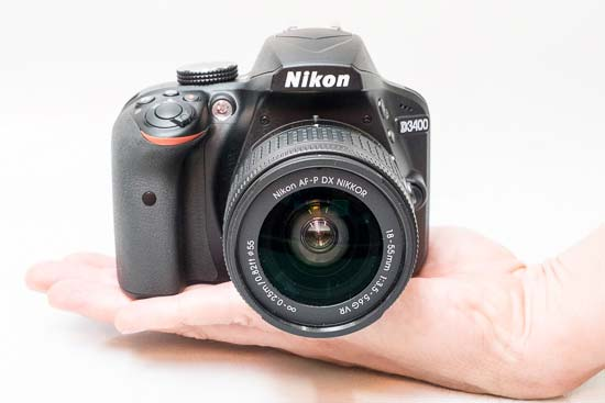 The Nikon D3400 In-hand
