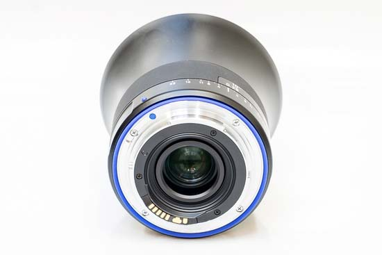 The front of the Zeiss Milvus 18mm f/2.8 lens