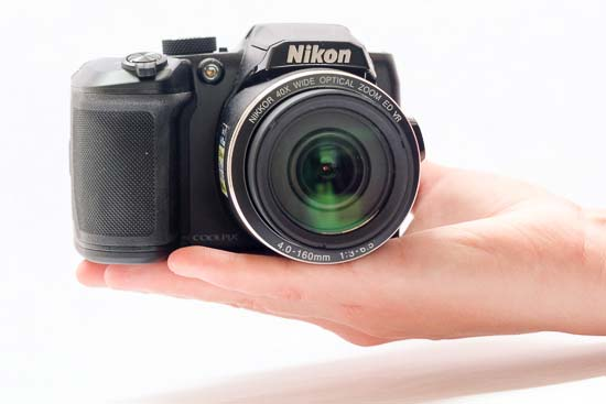 The Nikon Coolpix B500 In-hand